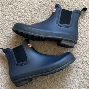 Navy Hunter Chelsea Boot